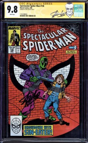 Spectacular Spider-man #136 Cgc 9.8 W Ss Stan Lee Single Highest #1191298002