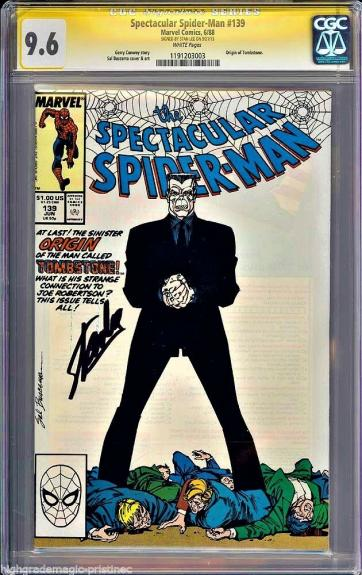 Spectacular Spider-man #139 Cgc 9.6 White Ss Stan Lee Cgc #1191203003