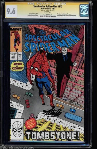 Spectacular Spider-man #142 Cgc 9.6 White Stan Lee Ss Cgc #1206476024