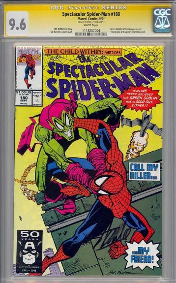 Spectacular Spider-man #180 Cgc 9.6 White Ss Stan Lee Single Highest 1118257004