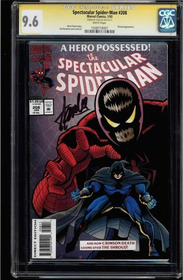 Spectacular Spider-man #208 Cgc 9.6 White Ss Stan Lee #1038719007