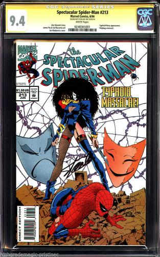 Spectacular Spider-man #213 Cgc 9.4 White Pages Ss Stan Lee  Cgc #0248365001