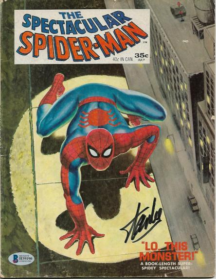 Spectacular Spider-Man Magazine #1 Comic Book Signed by STAN LEE BECKETT COA D