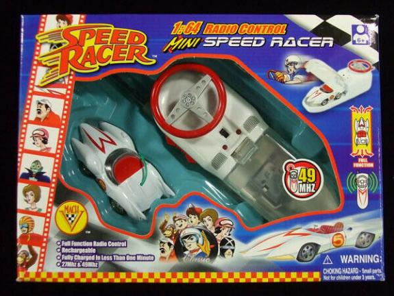 Speed Racer 1:64 Radio Control Mini Speed Racer Car Mach V 5 49MHZ Sealed New