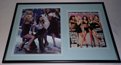 Spice Girls Framed 12x18 Photo & Rolling Stone Cover Display