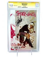 Spider-gwen #1 Adam Hughes Variant 1:100 Signed By Stan Lee Cgc 9.8 Comic Books Marvel