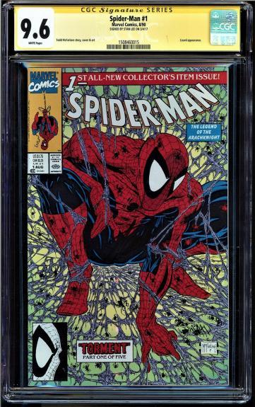 Spider-man #1 Cgc 9.6 White Ss Stan Lee Signed Lizard App #1508460015