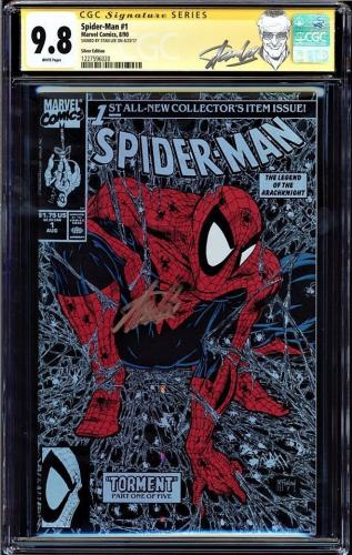 Spider-man #1 Cgc 9.8 White Pages Ss Stan Lee Silver Edition Cgc #1227596020