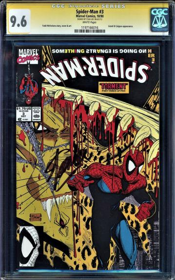 Spider-man #3 Cgc 9.6 Signature Series Ss Stan Lee Signed White Cgc #1197166016