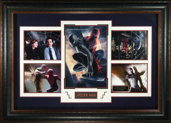 Spider-Man 3 Movie Poster and Photograph Collage Framed 33×46