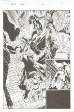Spider-man 3: The Black Page 10 Splash 2007 Comic Art 10x14.5