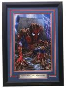 Spider-Man Grave Framed Gamestop 19x13 Photo Signed By Greg Horn SI COA