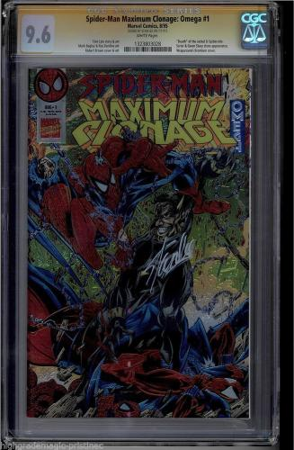 Spider-man Maximum Clonage Omega #1 Cgc 9.6 White Ss Stan Lee #1323803028