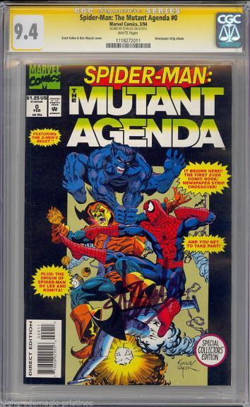 Spider-man Mutant Agenda #0 Cgc 9.4 W Ss Stan Lee Single Highest #1118272011