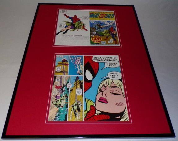 Spider-Man Night Gwen Stacy Died Framed 18x24 Photo Display