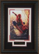 Spider-Man Tobey Maguire Signed 11x17 Poster Framed