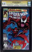 SPIDER-MAN UNLIMITED #1 CGC 8.5 W SS SIGNED 2Xs STAN LEE & RON LIM #1118272014