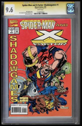 Spider-man & X-factor Shadowgames #1 Cgc 9.6 Ss Stan Lee Cgc #1144916022