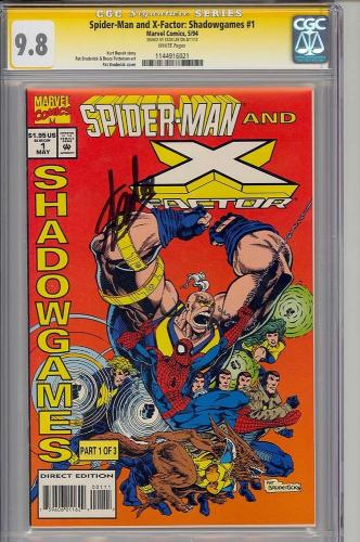Spider-man & X-factor Shadowgames #1 Cgc 9.8 W Ss Stan Lee 1 Of 1 #1144916021