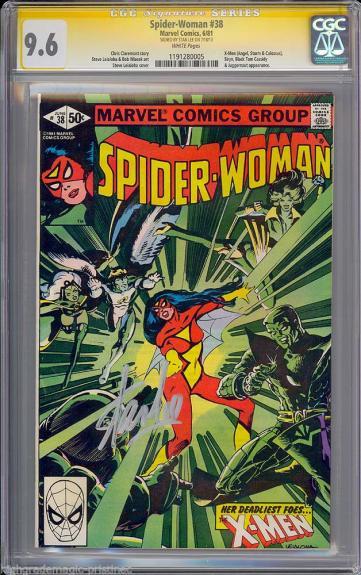 Spider-woman #38 Cgc 9.6 White Ss Stan Lee Single Highest Cgc # 1191280005