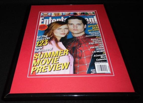 Spiderman 2 2004 Framed 11x14 ORIGINAL 2004 Entertainment Weekly Cover K Dunst