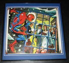 Spiderman Dr Octopus Aunt May Wedding Original Framed 1978 Marvel Poster 12x12