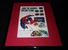 Spiderman X Men 1992 Game Boy SNES Framed 11x14 ORIGINAL Vintage Advertisement B