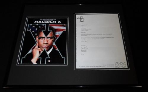 Spike Lee 16x20 Signed Framed 1991 Letter & Malcolm X Photo Poster Set