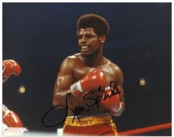 Leon Spinks 8'' x 10'' Autographed Horizontal Photograph - Mounted Memories