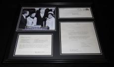 Spiro & Judy Agnew 16x20 Framed 1973 Crab Imperial Recipe & Photo Display