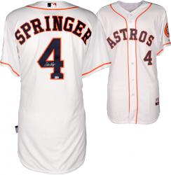 George Springer Houston Astros Autographed Majestic Authentic Home Jersey
