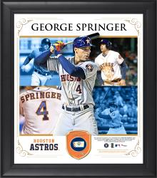 """George Springer Houston Astros Framed 15"""" x 17"""" Composite Collage with Piece of Game-Used Ball"""