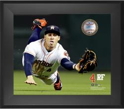 "George Springer Houston Astros Framed 20"" x 24"" Gamebreaker Photograph with Game-Used Ball"