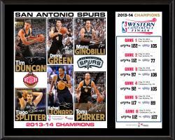 "San Antonio Spurs NBA 2014 Western Conference Champions Sublimated 12"" x 15"" Plaque"