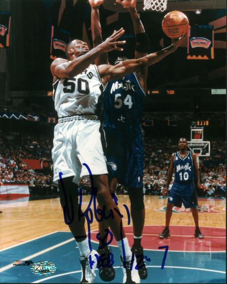 Spurs David Robinson Signed 8x10 Photo Autographed PSA/DNA #J62533