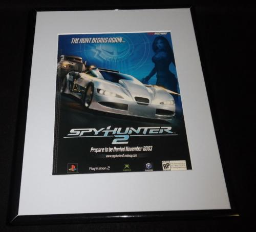 Spy Hunter 2003 PS2 XBox Framed 11x14 ORIGINAL Vintage Advertisement