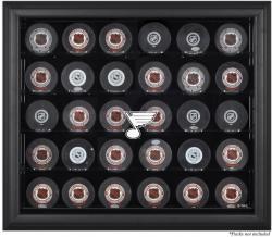 St. Louis Blues 30-Puck Black Display Case