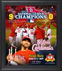 "St. Louis Cardinals 2013 National League Champions 15"" x 17"" Framed Collage Blend with Game-Used Baseball - Limited Edition of 500"