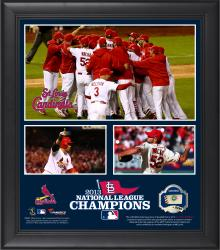 "St. Louis Cardinals 2013 National League Champions Framed 15"" x 17"" Collage with Game-Used Ball - Limited Edition of 500"