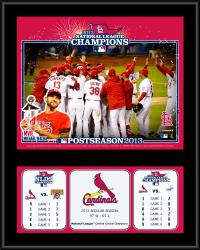 St. Louis Cardinals 2013 National League Champions Sublimated 12'' x 15'' Plaque - Mounted Memories