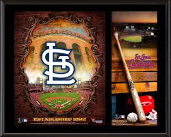 St. Louis Cardinals Sublimated 12'' x 15'' Team Logo Plaque - Mounted Memories