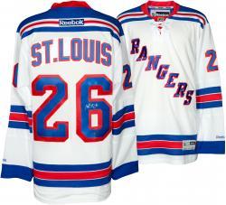 Martin St. Louis New York Rangers Autographed Reebok White Jersey