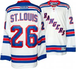 Martin St. Louis New York Rangers Autographed Reebok White Jersey