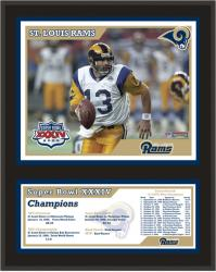St. Louis Rams 12'' x 15'' Sublimated Plaque - Super Bowl XXXIV - Mounted Memories