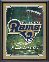 "St. Louis Rams Team Logo Sublimated 10.5"" x 13"" Plaque - Mounted Memories"