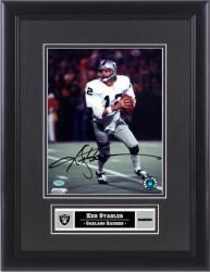 "Ken Stabler Oakland Raiders Framed Autographed 8"" x 10"" Photograph - Mounted Memories"