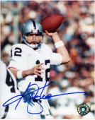 "Ken Stabler Oakland Raiders Autographed 8"" x 10"" Passing Ball Up Photograph"