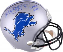 Matt Stafford Detroit Lions Autographed Riddell Replica Helmet with 5000 Yd Club Inscription