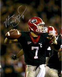 Matt Stafford Georgia Bulldogs Autographed 16'' x 20'' Black Jersey Throw Vertical Photograph