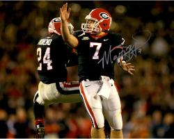 Matt Stafford Georgia Bulldogs Autographed 16'' x 20'' Bump With Teammate Photograph